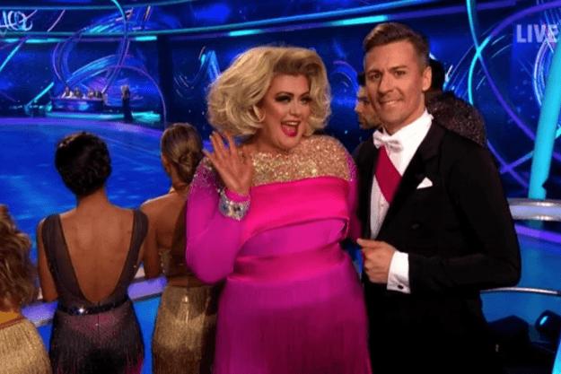 Gemma Collins, Dancing on Ice (ITV screenshot)