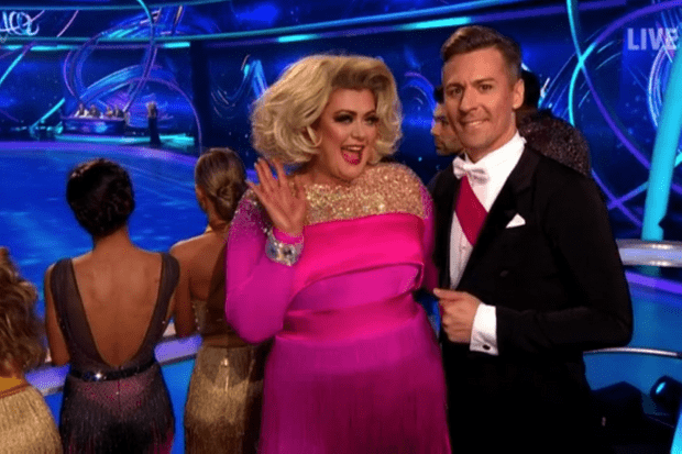 Gemma Collins, Dancing on Ice (ITV screenshot)