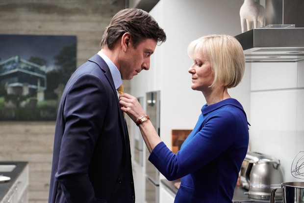 Enzo Cilenti and Hermione Norris in Luther (BBC)