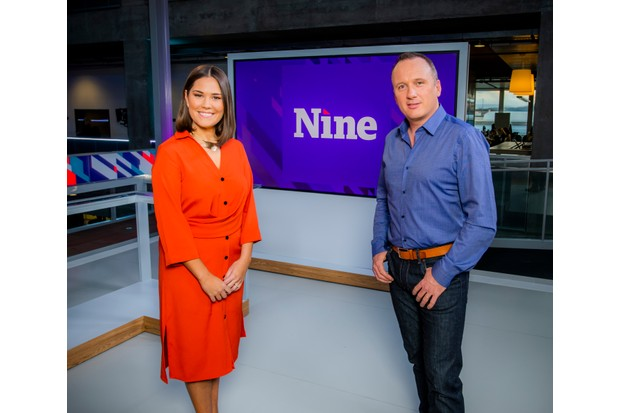 WARNING: Embargoed for publication until 13:00:00 on 28/11/2018 - Programme Name: The Nine - TX: n/a - Episode: n/a (No. n/a) - Picture Shows: The Nine news anchors Rebecca Curran, Martin Geissler - (C) BBC Scotland - Photographer: Alan Peebles