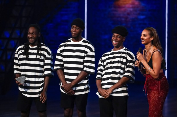 WARNING: Embargoed for publication until 00:00:01 on 15/01/2019 - Programme Name: The Greatest Dancer - TX: 19/01/2019 - Episode: The Greatest Dancer - Ep 3 (No. n/a) - Picture Shows: Villains Crew, Alesha Dixon - (C) Syco/Thames - Photographer: Tom Dymond