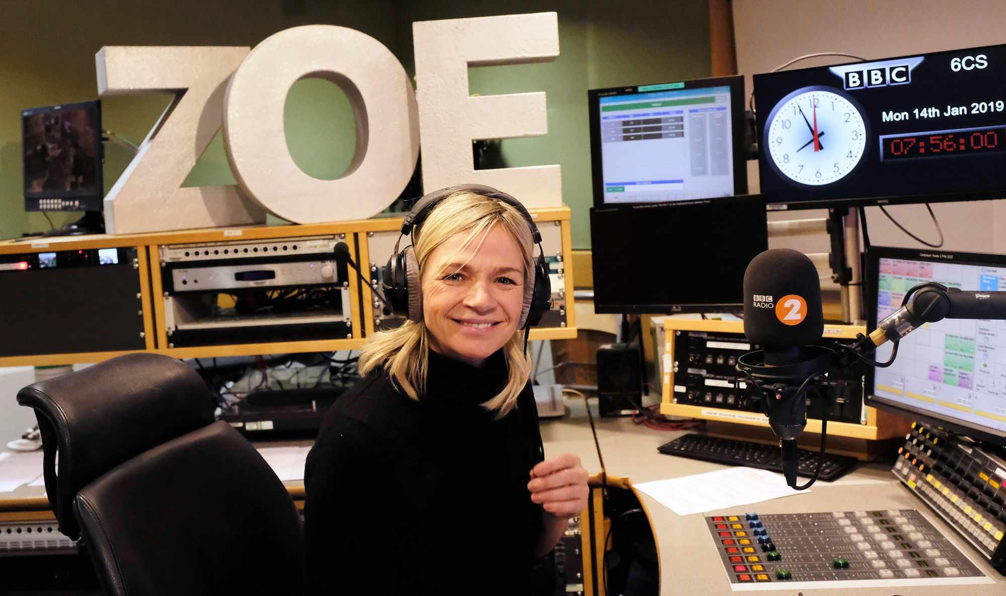 Programme Name: The Zoe Ball Breakfast Show - TX: n/a - Episode: Zoe Ball Breakfast Show (No. n/a) - Picture Shows:  Zoe Ball - (C) BBC - Photographer: Sarah Jeynes