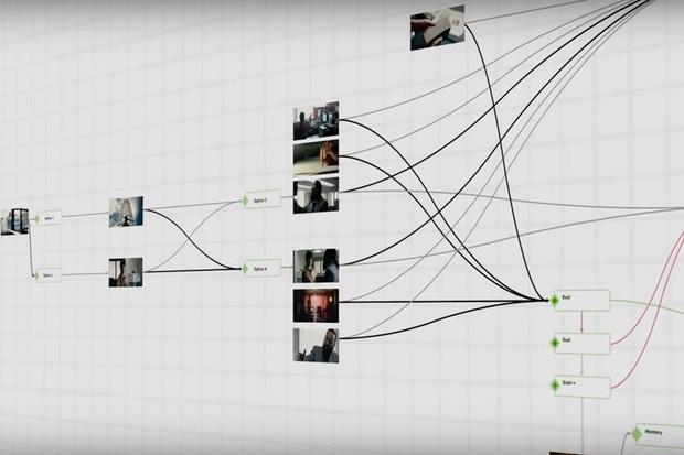 Screenshot, Black Mirror: Bandersnatch Featurette (Netflix)