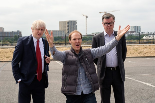 Boris Johnson (Richard Goulding), Dominic Cummings (Benedict Cumberbatch) and Michael Gove (Oliver Maltman)