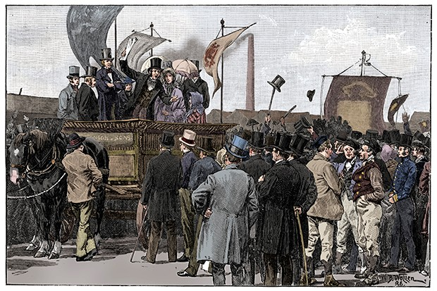 The Chartist Demonstration On Kennington Common 1848 (1900)