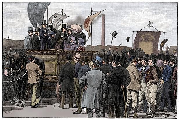 The Chartist Demonstration On Kennington Common 1848 (1900)
