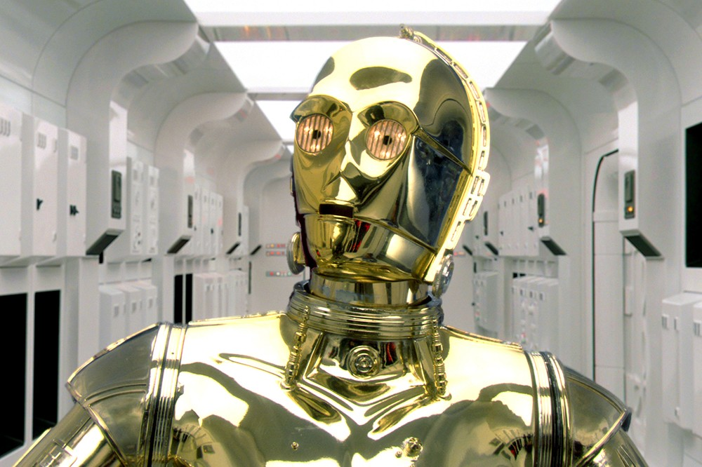 Anthony Daniels as C-£PO in Star Wars Episode III - Revenge Of The Sith (Sky, LucasFilm)