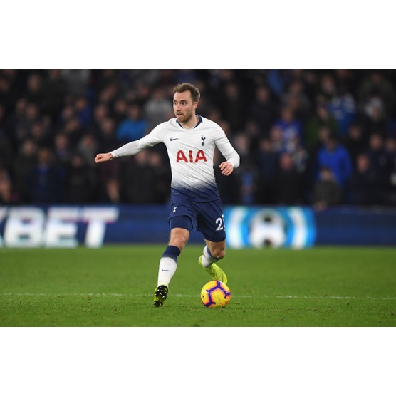 CARDIFF, WALES - JANUARY 01: Christian Eriksen of Spurs in action during the Premier League match between Cardiff City and Tottenham Hotspur at Cardiff City Stadium on January 1, 2019 in Cardiff, United Kingdom. (Photo by Stu Forster/Getty Images)