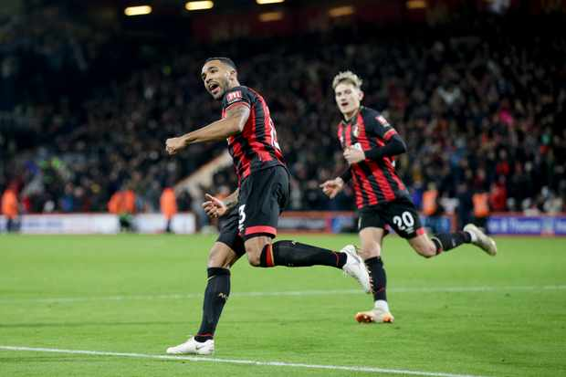 BOURNEMOUTH, ENGLAND - JANUARY 02: Callum Wilson of Bournemouth celebrates after he scores a goal to make it 2-2 during the Premier League match between AFC Bournemouth and Watford FC at Vitality Stadium on January 2, 2019 in Bournemouth, United Kingdom. (Photo by Robin Jones - AFC Bournemouth/AFC Bournemouth via Getty Images)