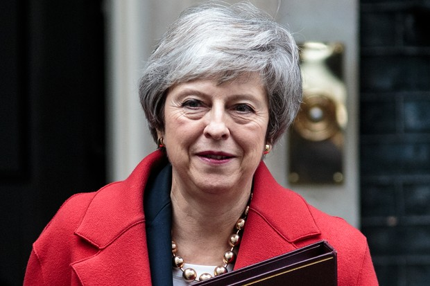 Theresa May Leaves For The House Of Commons