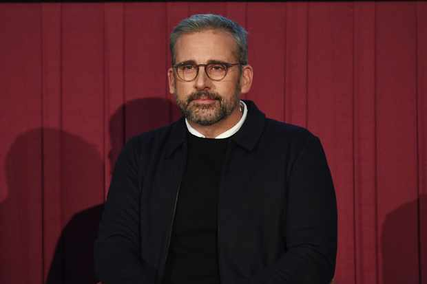 """ATLANTA, GEORGIA - DECEMBER 13:  Steve Carell speaks onstage during """"Welcome To Marwen"""" Atlanta Screening And Q&A at Regal Atlantic Station on December 13, 2018 in Atlanta, Georgia. (Photo by Paras Griffin/Getty Images)"""