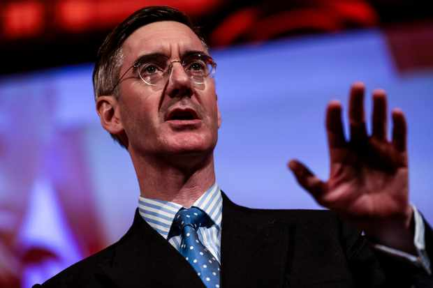 LONDON, ENGLAND - DECEMBER 14: Conservative MP Jacob Rees-Mogg speaks during a 'Leave Means Leave' Brexit rally at the Queen Elizabeth II Centre on December 14, 2018 in London, England. Several politicians and public figures will speak at a series of rallies by the Leave Means Leave campaign calling on the Government to push ahead with Britain's swift departure from the European Union. (Photo by Jack Taylor/Getty Images)