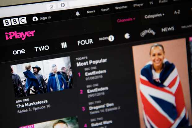 LONDON, ENGLAND - AUGUST 02:  In this photo illustration, the BBC iPlayer app is displayed on a laptop screen on August 2, 2016 in London, England. The BBC has announced that iPlayer users will have to pay a 145GBP TV licence fee from 1 September.  (Photo Illustration by Carl Court/Getty Images)