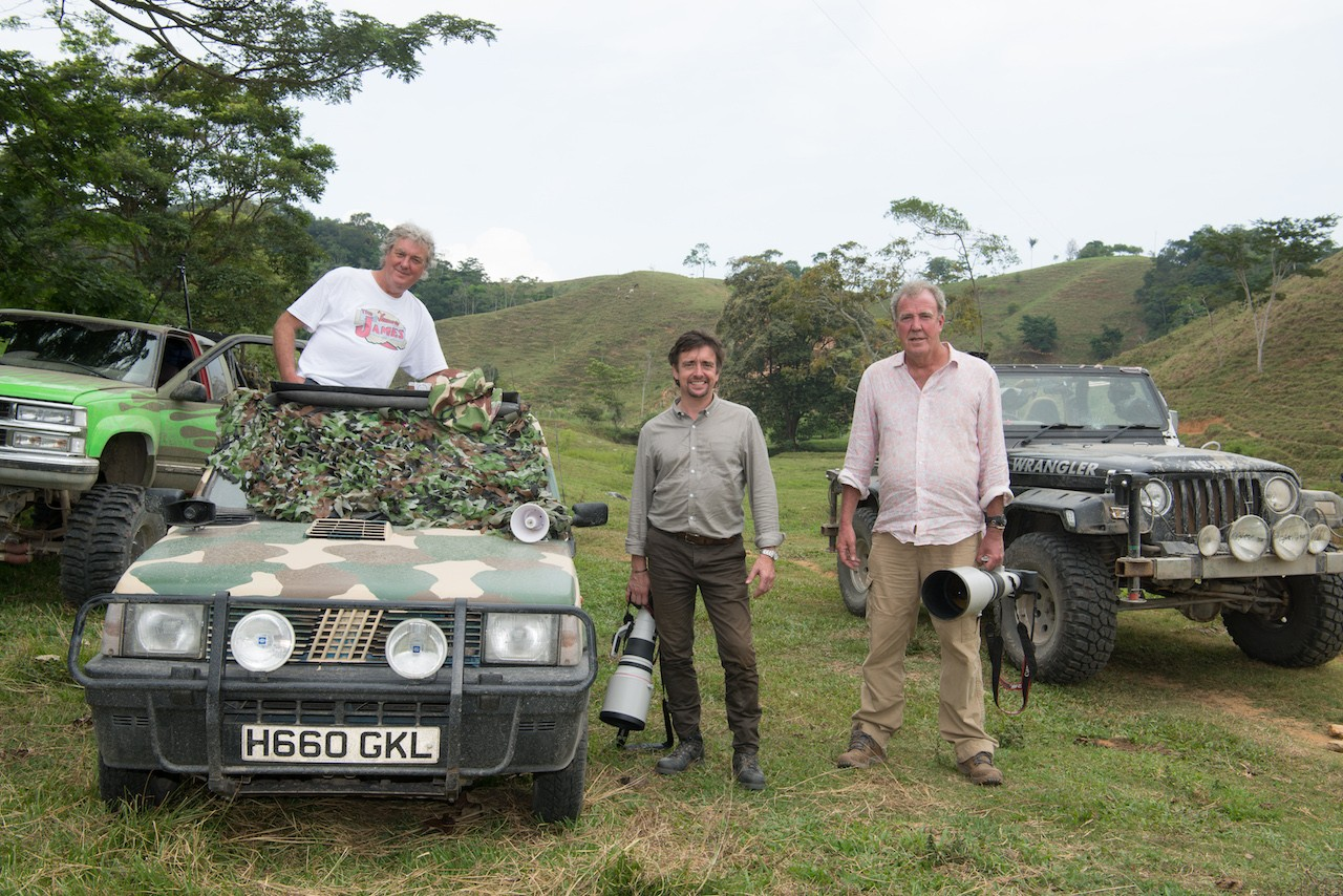 Jeremy Clarkson, Richard Hammond and James May in The Grand Tour series three Colombia special (Amazon)