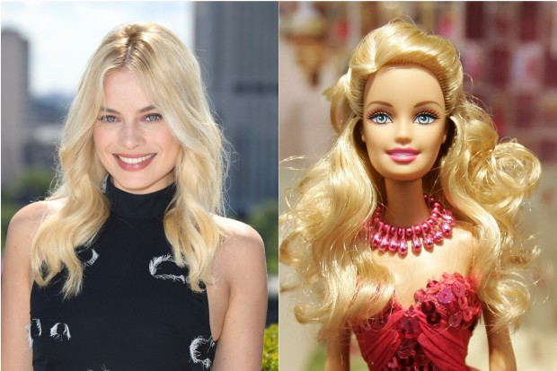 Margot Robbie and Barbie