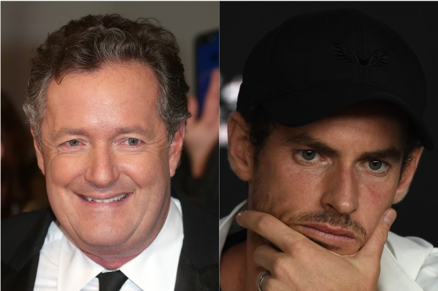 Piers Morgan and Andy Murray