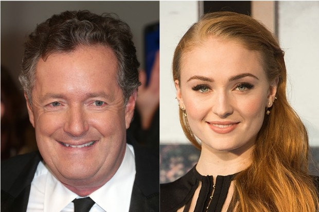 Piers Morgan and Sophie Turner