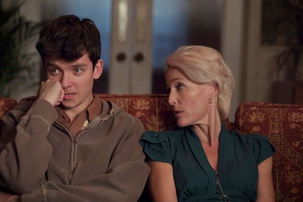 Asa Butterfield and Gillian Anderson in Netflix's Sex Education (Netflix)