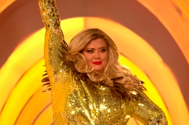 Gemma Collins on Dancing on Ice (youtube screenshot)