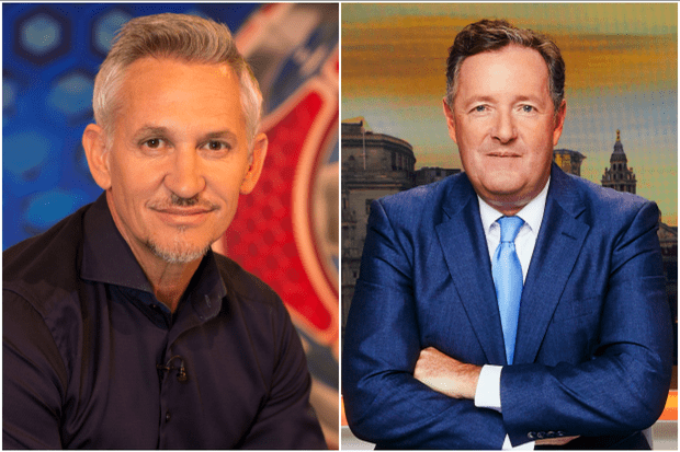 Gary Lineker and Piers Morgan (BBC, ITV)