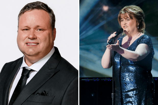 Paul Potts and Susan Boyle