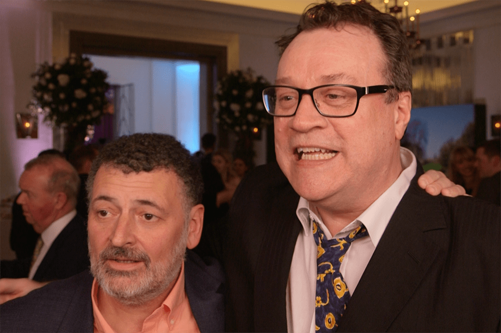 Steven Moffat and Russell T Davies at the Radio Times Covers Party