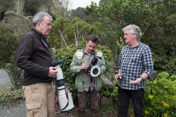 Jeremy Clarkson, Richard Hammond and James May try their hand at wildlife photography in the series three Colombia special (Amazon)
