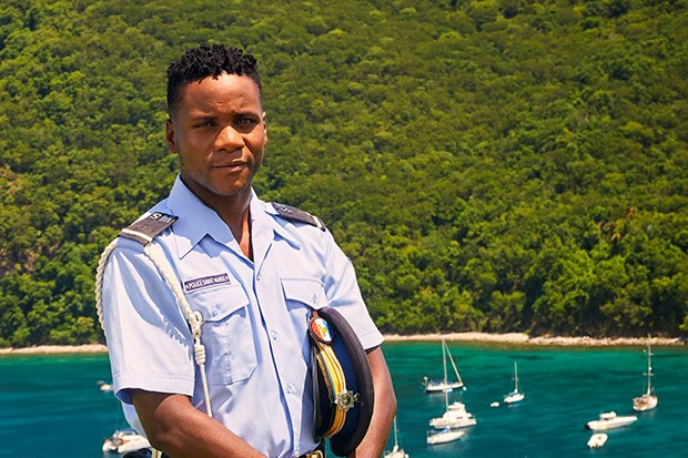 Tobi Bakare plays Officer JP Hooper in Death in Paradise