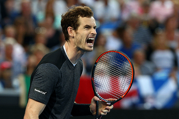 Andy Murray at the Australian Open, Getty