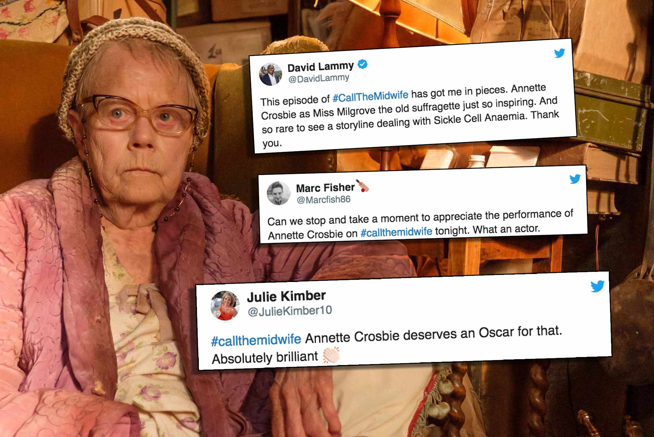 Call the Midwife Twitter reaction Annette Crosbie