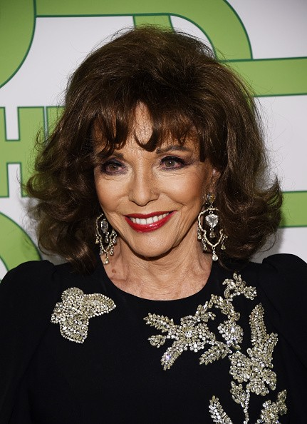 LOS ANGELES, CALIFORNIA - JANUARY 06: Dame Joan Collins arrives at HBO's Official Golden Globe Awards After Party at Circa 55 Restaurant on January 06, 2019 in Los Angeles, California. (Photo by Amanda Edwards/WireImage)