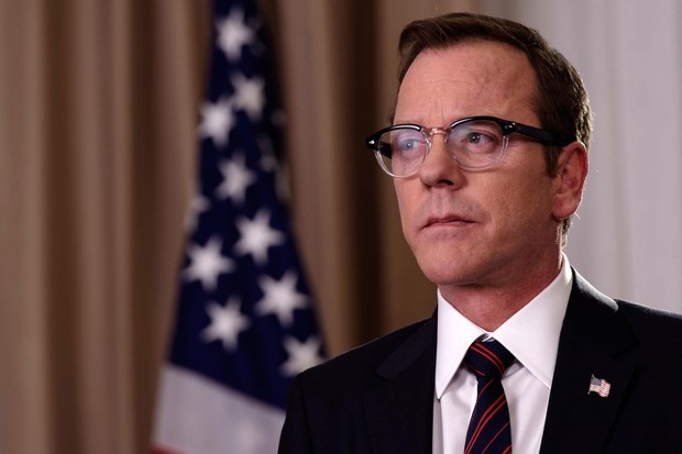 kiefer sutherland as President Tom Kirkman in Designated Survivor