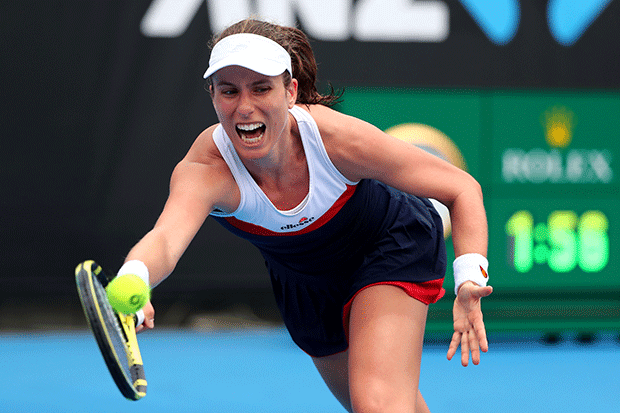 Johanna Konta at the Australian Open, Getty