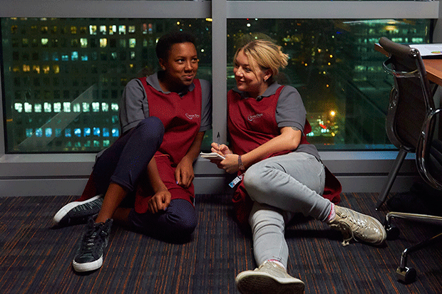 Jade Anouka and Sheridan Smith in Cleaning Up, ITV Pictures