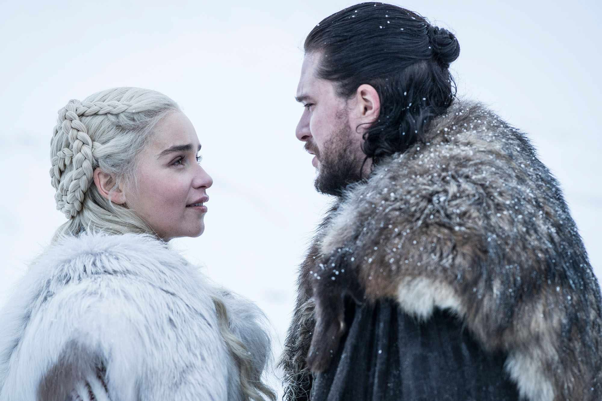 Emilia Clarke and Kit Harington in Game of Thrones season 8