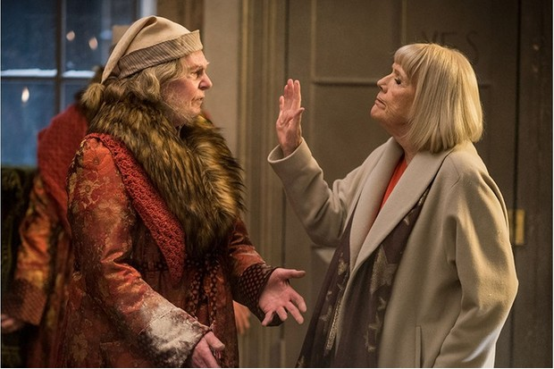 Derek Jacobi and Diana Rigg guest-star in one-off special A Christmas Carol Goes Wrong (BBC)