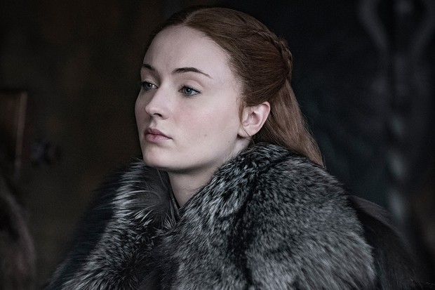 Sophie Turner as Sansa Stark in Game of Thrones season 8 (HBO, Sky Atlantic)