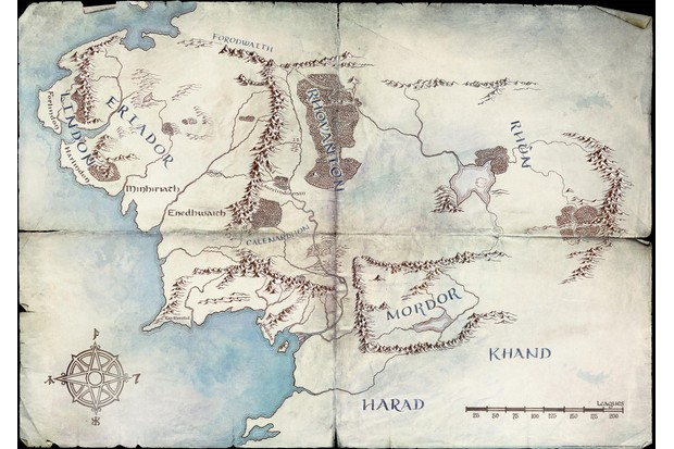 Amazon's map of Middle Earth