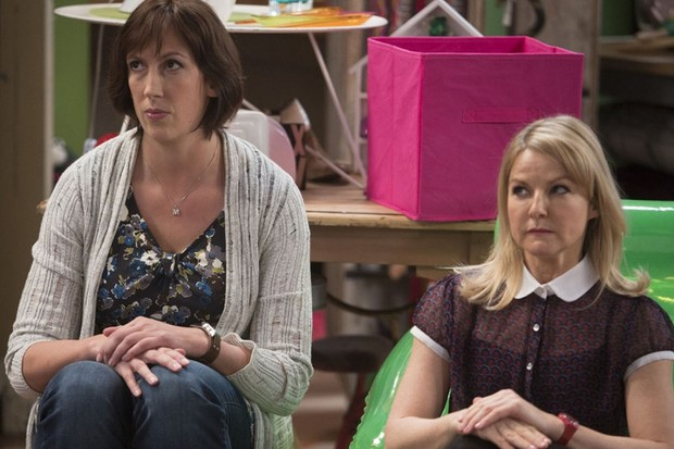 Miranda Hart and Sarah Hadland in Miranda (BBC)