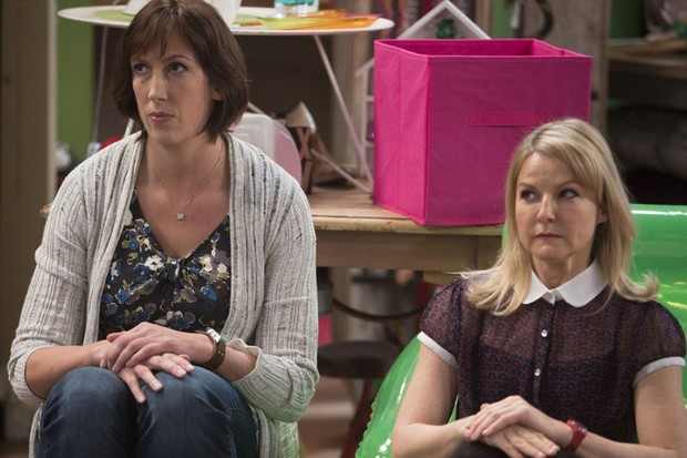 Miranda Hart and Sarah Hadland in Miranda (BBC)