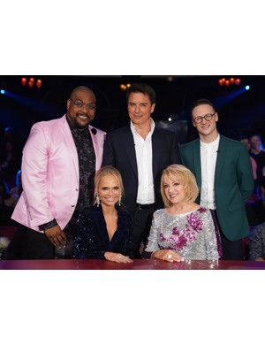 The All Star Musicals judges and presenters: Trevor Dion Nicholas, Kristin Chenoweth, John Barrowman, Elaine Paige and Kevin Clifton (ITV)