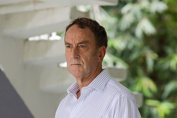 Angus Deayton plays Martin in Death in Paradise