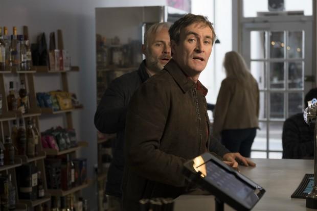 Derek Riddell plays Alice's husband Chris in Shetland