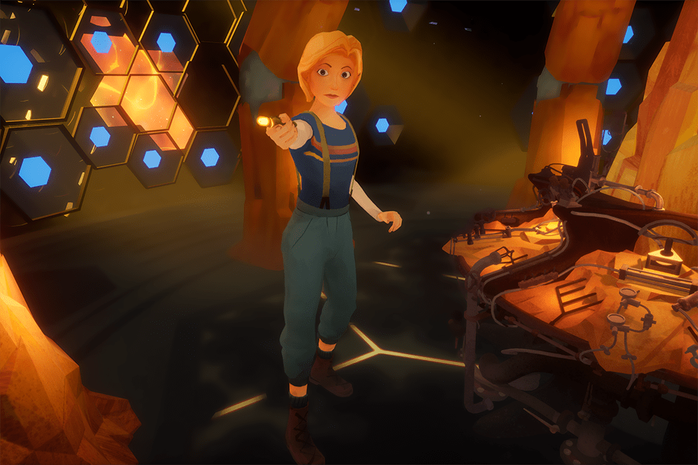 Jodie Whittaker's Thirteenth Doctor in virtual reality game Doctor Who: The Runaway (BBC)