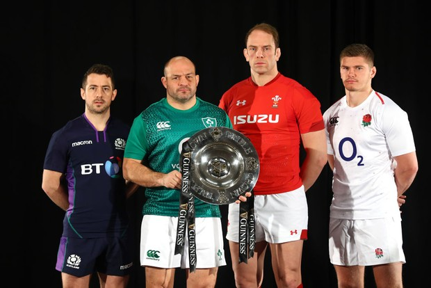 Six Nations 2019 captains and tropyh