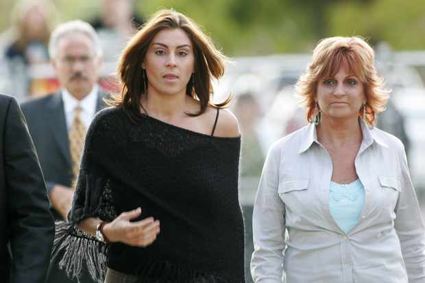 Wade Robson's sister Chantal and mother Joy at Jackson's 2005 trial