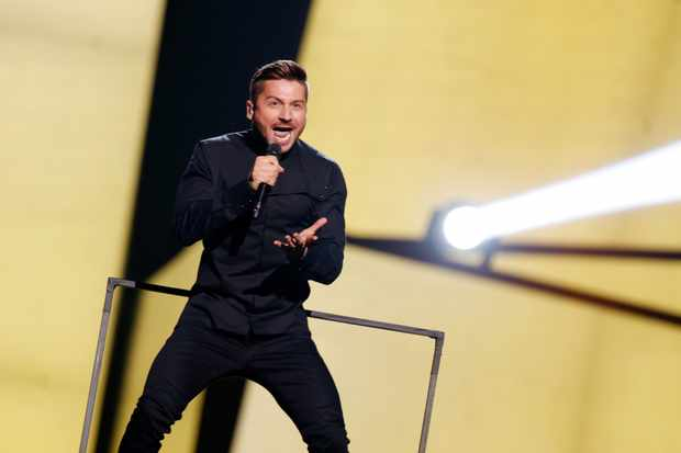 "STOCKHOLM, SWEDEN - MAY 14:  Sergey Lazarev representing Russia performs the song ""You Are The Only One"" at the Ericsson Globe on May 14, 2016 in Stockholm, Sweden.  (Photo by Michael Campanella/Getty Images)"