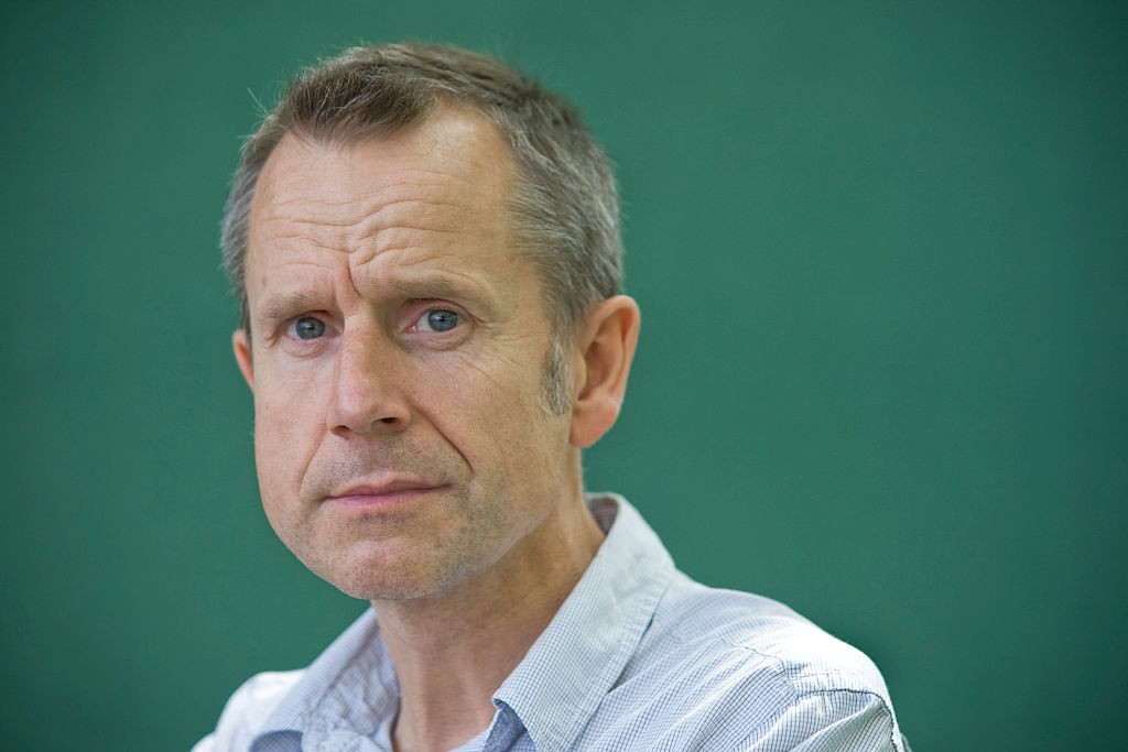 British writer, broadcaster and comedian Jeremy Hardy, pictured at the Edinburgh International Book Festival where he talked about his autobiography entitled 'My Family and Other Strangers.' The three-week event is the world's biggest literary festival and is held during the annual Edinburgh Festival. The 2010 event featured talks and presentations by more than 500 authors from around the world. (Photo by Colin McPherson/Corbis via Getty Images)