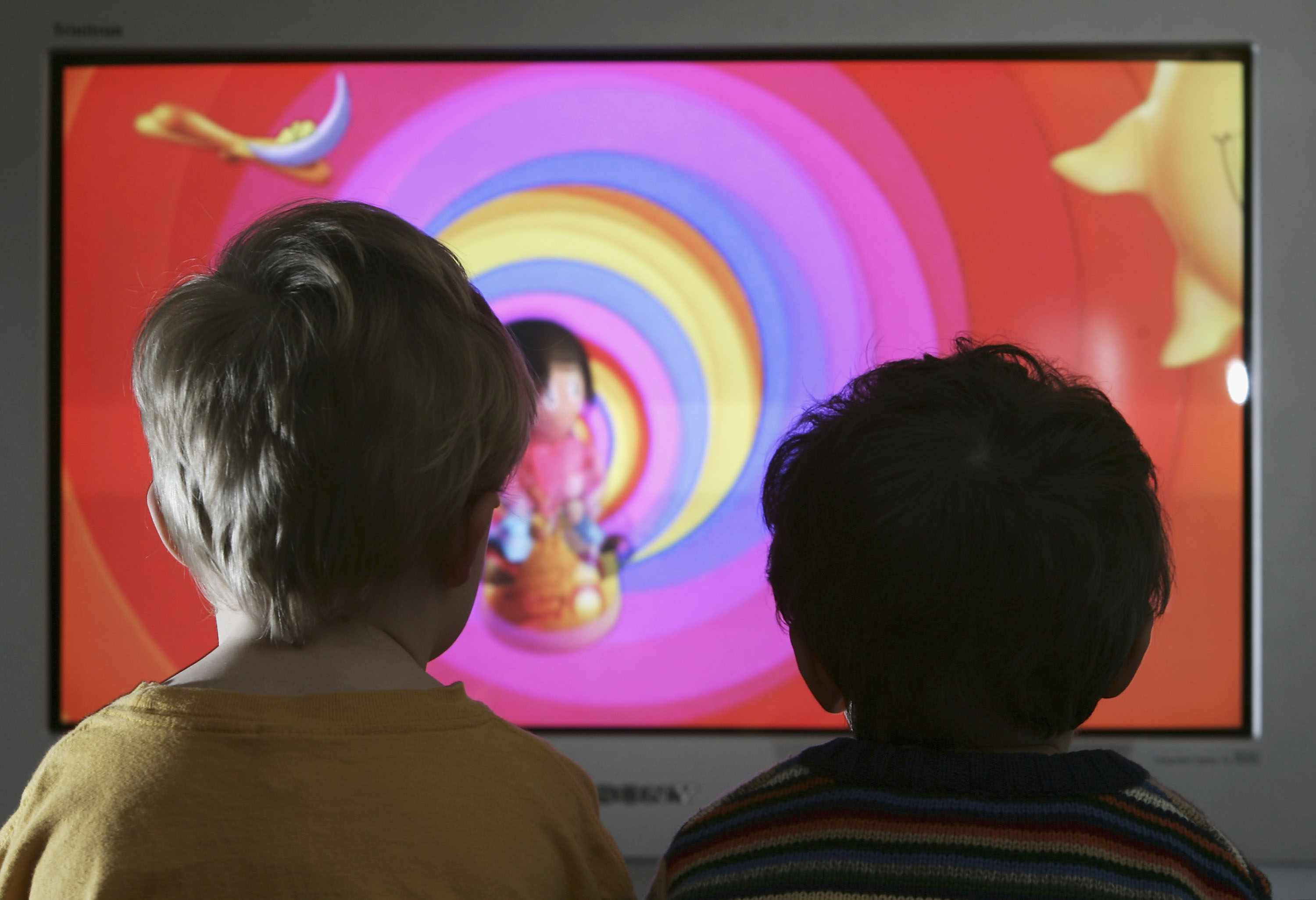 Children Watch Television At Home (Getty)