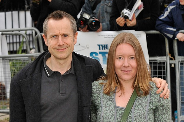 Jeremy Hardy with his wife Kate (Getty)